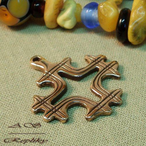 Jednoduchý kříž bronzový