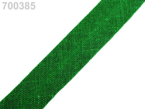 Šikmý proužek 14 mm zažehlený (5m) - Classic Green