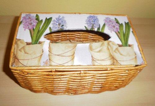 Poklop na kapesníky - hyacinty (na 200ks)