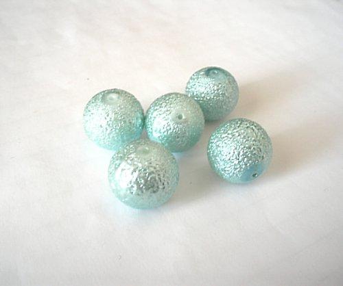 Perle voskové světle modré 16mm