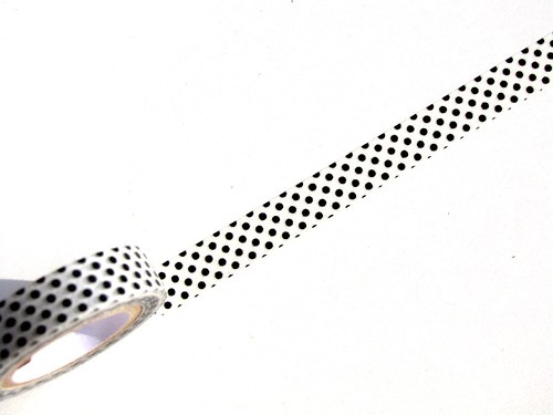 Páska: Černé puntíky na bílé (1 x 33 cm)