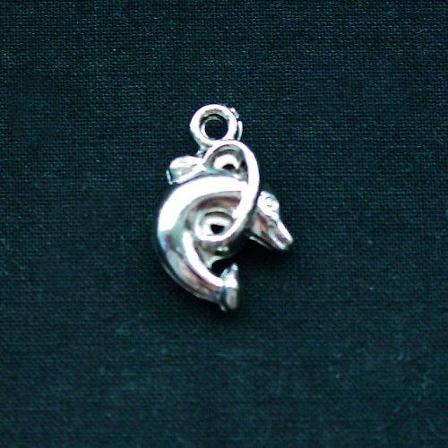 Delfín s kruhem - přívěsek
