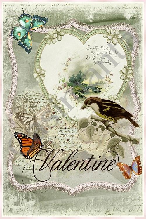 Valentýn - vintage motiv