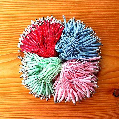 Pletené Poutko - 10ks - Růžové