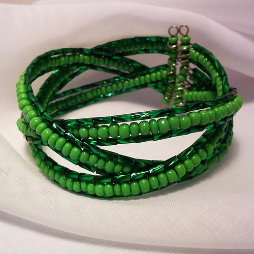 Zelenkavý náramek