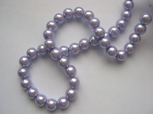 Voskované perly 0,6 cm - fialové (10 ks)