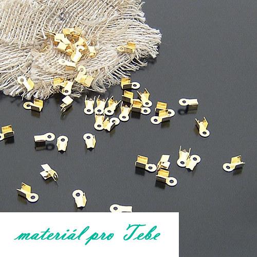 10g zlatých koncových dílů na provázek - mini