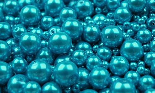 Perly barevný MIX cca Ø3-10mm 100ks tyrkys
