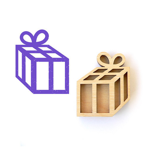 Dřevěné razítko - dáreček