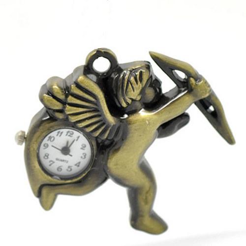 Antické hodinky amorek, bez řetízku, TYP 19