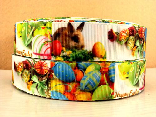 Stuha rypsová š.25 mm: Veselé Velikonoce
