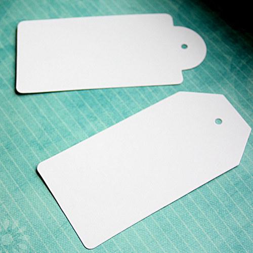 bílé visačky 10 kusů
