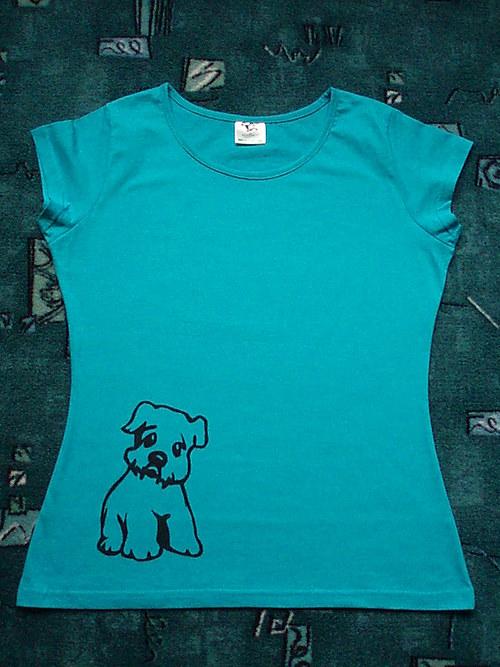 Dámské tričko s pejskem