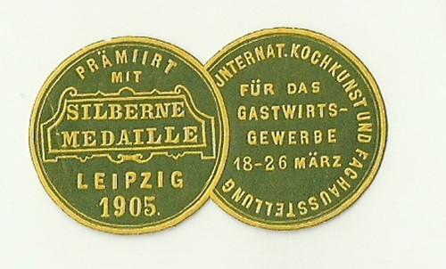 Medaile ocenění stříbrná medile Kuchařská soutěž