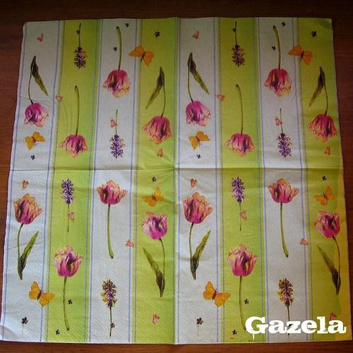 Ubrousek Tulipány a motýli