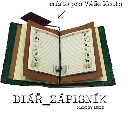 Diář_zápisník Motivuj - Zeleň malachit A5