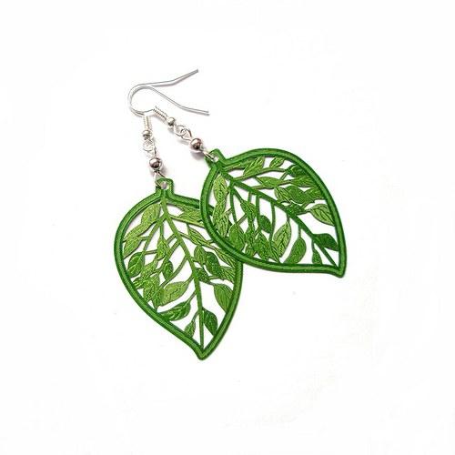 Botanic zelené - náušnice nebo klipsy
