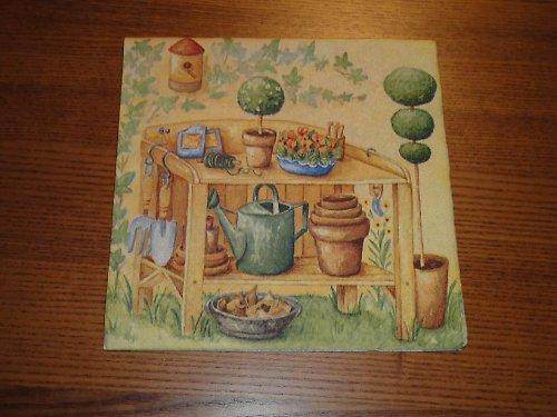 Ubrousek na decoupage - zahradní nářadí