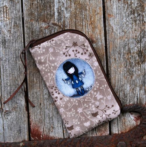 zipové pouzdro na mobil sv.hnědé -gorjuss