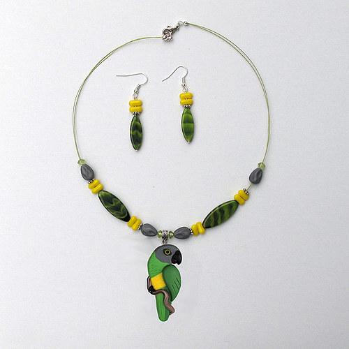 Náhrdelník - Papoušek senegalský