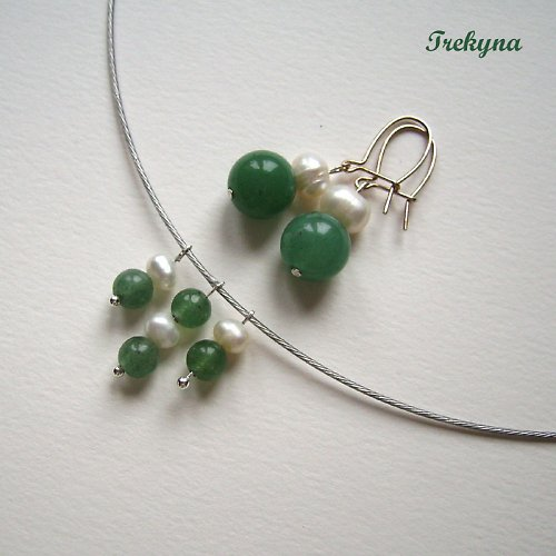 Souprava Zelený a bílá