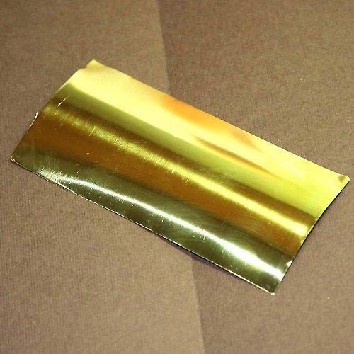Mosazná folie 50x100 mm - 0,125 mm