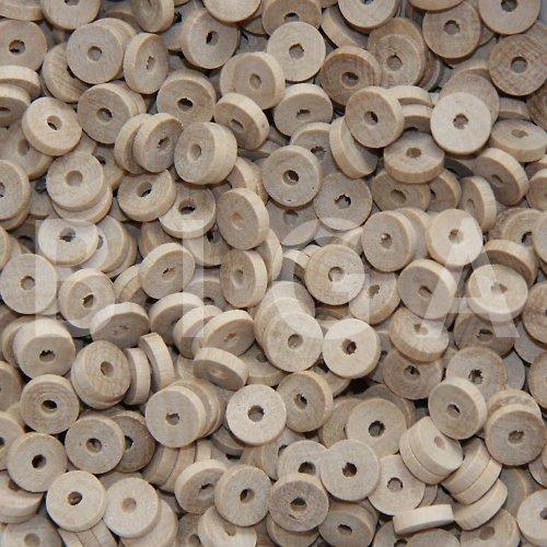 dřevěné korálky 8x2mm