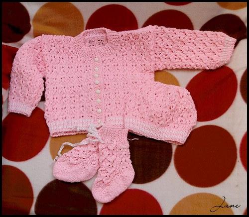 Růžová kojenecká sada