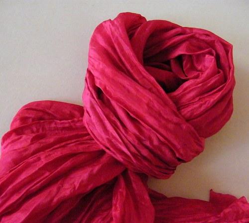 Někdo to rád sytě růžové... hedv.šál 55x200