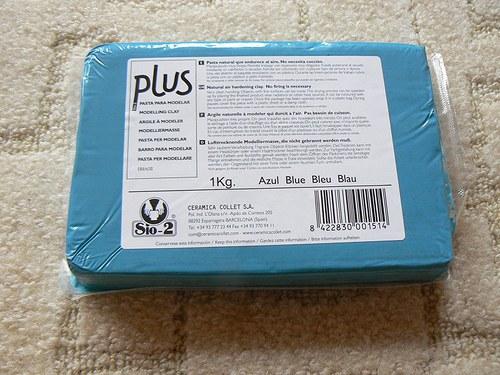 Samoschnoucí hmota Color Plus sytá modrá 500g