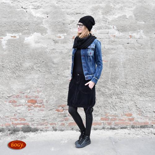 černá manšestrová sukně balonová, prodloužená