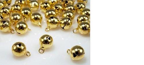Rolnička 10 mm zlatá