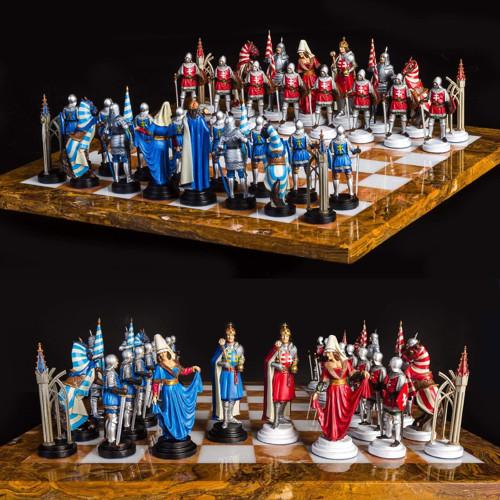 ručne vyrábaný cínový šach  UHORSKÝ