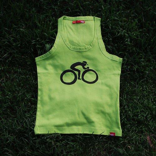 Pistáciový cyklista v trávě - SLEVA z 220,- Kč