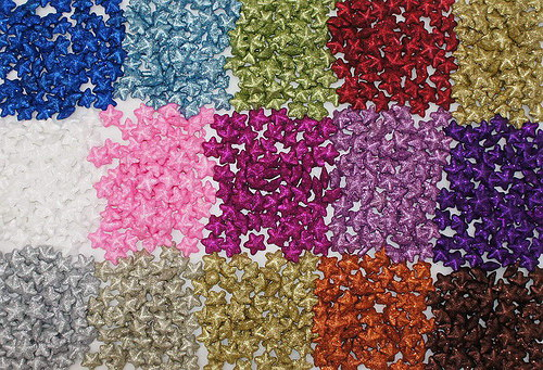 Hvězdička 2,5 cm - glitter hnědá