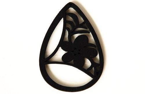 Dřevěné kapky- černé