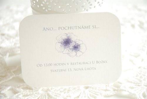 Ano květům - svatební pozvánka