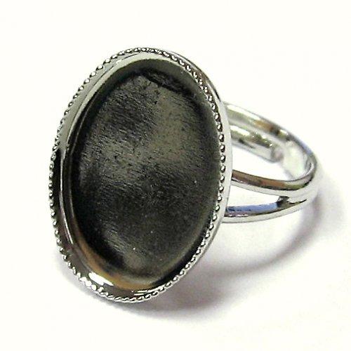 Prsten ovál - 18 x 13 mm
