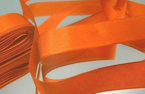 stuha taftová 15mm oranžová (7m)