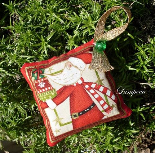 Vánoční jehelníček se zlatým tiskem