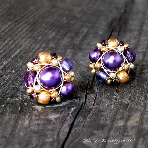 Náušničky Violet Orient...