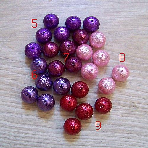 vroubkované voskové perly/ růžová č.8/ 12mm/ 5ks