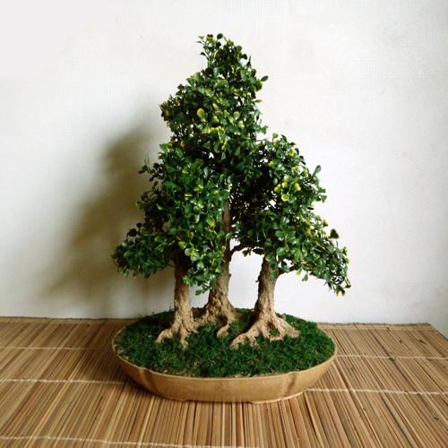 Bonsaj - lesík - umělá dekorace
