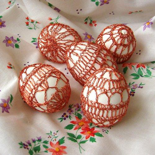 Vajíčka - háčkovaný drátek