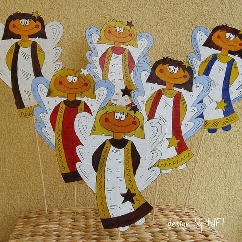 Vánoční zapichovátko - andílek