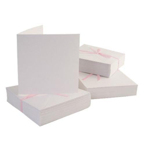 Obálky a karty čtvercové - WHITE 10 ks