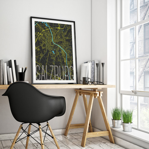 SALZBURG, 50x70cm, elegantní, černý