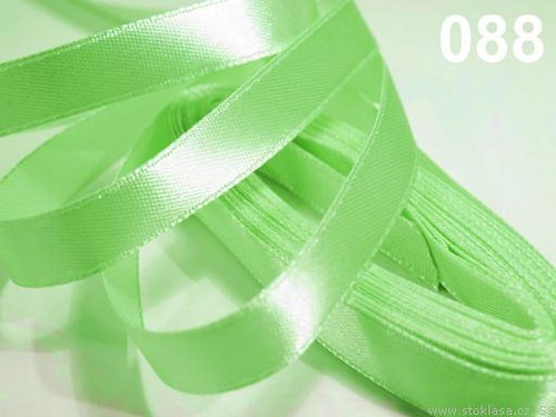 Stuha saténová š.6mm zelenkavá