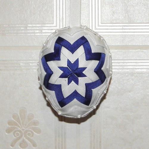 Artyčokové vajíčko - modro bílé