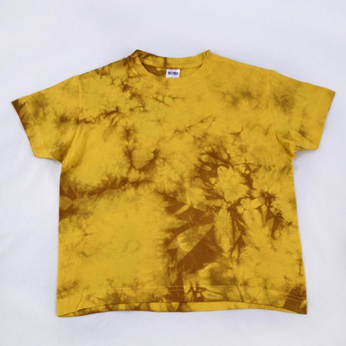 Žluto-hnědé dětské tričko (6 let)